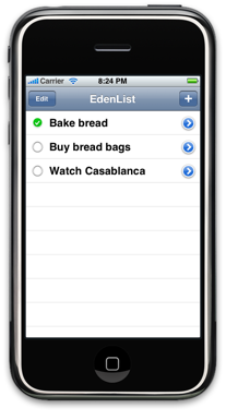 EdenList screenshot