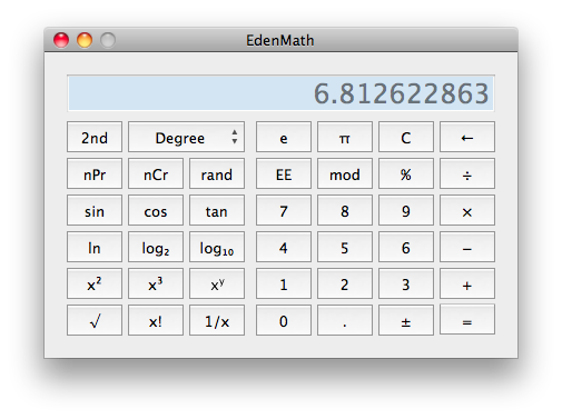 EdenMath Screenshot